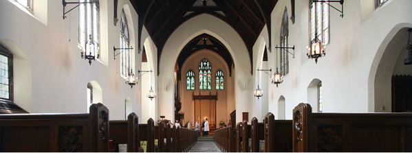 The new church, facing east.